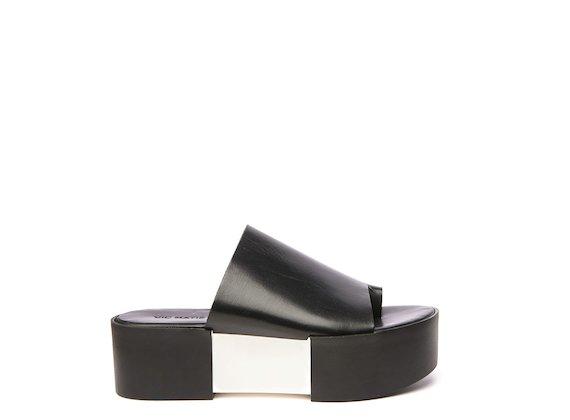 Black asymmetric slider