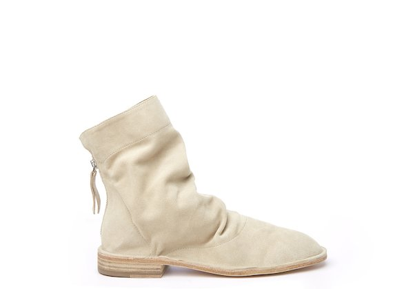 Sand unlined ankle boot