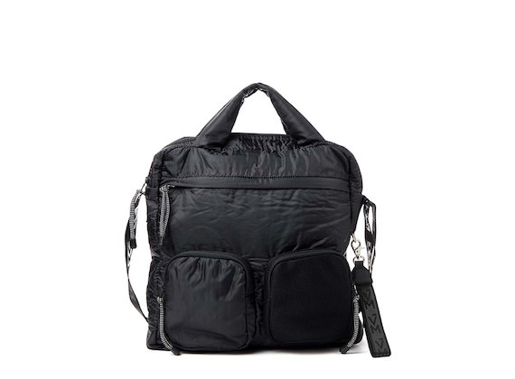 Dakota<br>Black multi-pocket tote bag