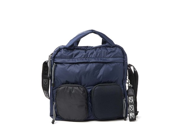 Dakota<br>Blue multi-pocket tote bag