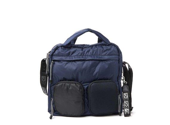 Dakota<br>Totebag mit mehreren Taschen, blau