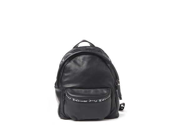 Amal<br>Kleiner Rucksack mit 3D-Logo, schwarz