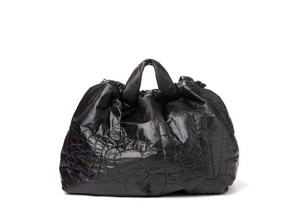 Penelope<br>Verstaubarer Nylon-Rucksack, schwarz