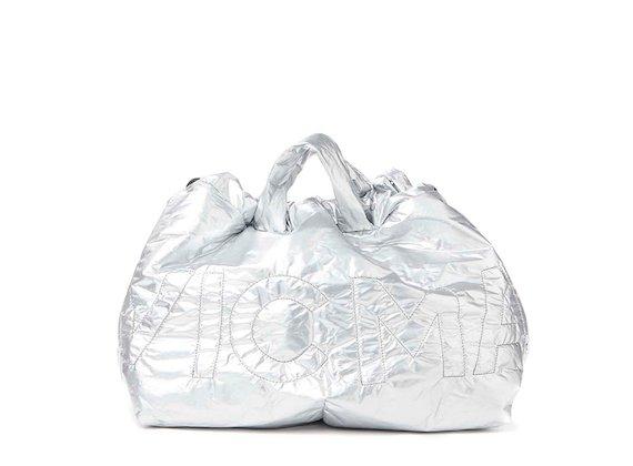 Penelope<br>Silver nylon foldaway bag