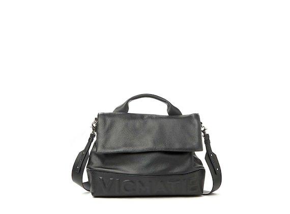 Nora<br>3D logo satchel - Black
