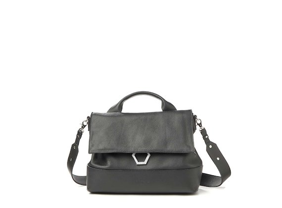 Nora<br>Black metal ring satchel