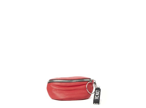 Ginger<br>Red bum bag with maxi ring