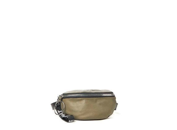 Ginger<br>Green bum bag with maxi ring