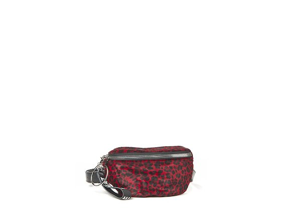 Ginger<br>Red leopard print bum bag with maxi ring