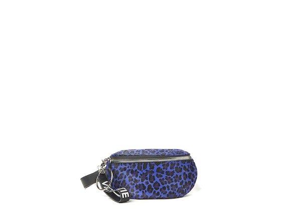 Ginger<br>Gürteltasche mit Maxi-Ring und Animalier-Muster, violett