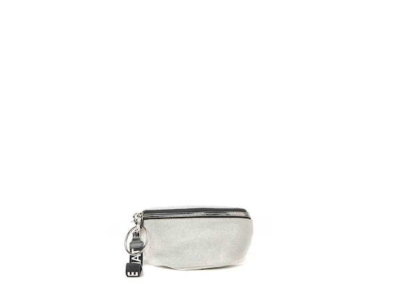Ginger<br>Glitter silver bum bag with maxi ring