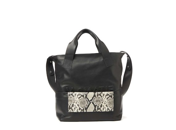 Petra<br>Shopper bag with removable snakeskin-effect clutch