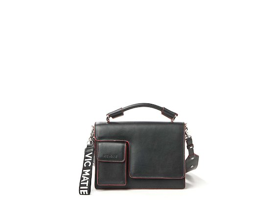 Corinne<br>Satchel with contrasting edges