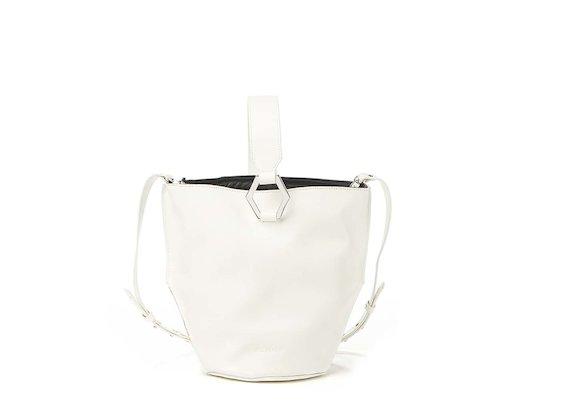Kalia<br>White bucket bag with metal ring