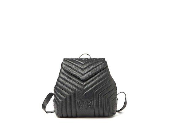 Kai<br>Kleiner Rucksack mit Steppnähten und Logo