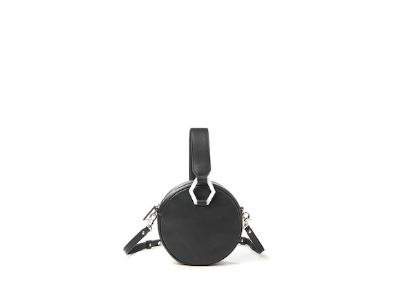 Rania<br>Round mini bag with metal accessory