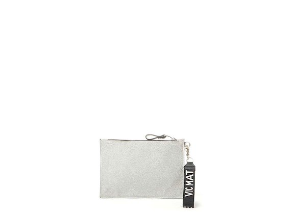 Madeline<br>Glitter silver clutch