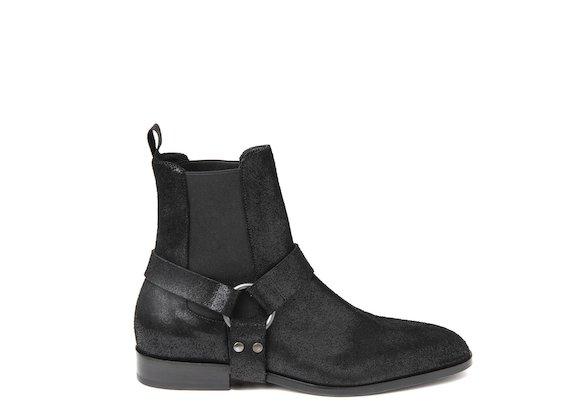 Ankle boot with removable strap