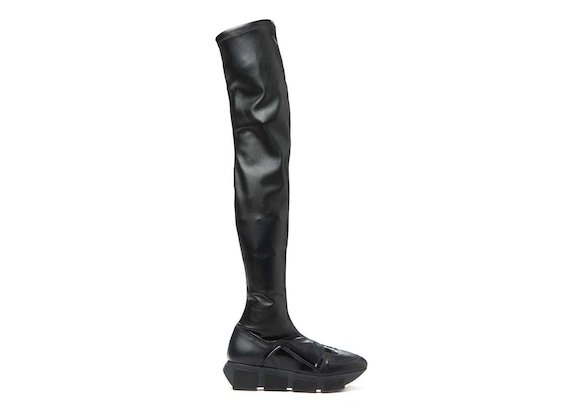 Thigh-high boot with trainer sole