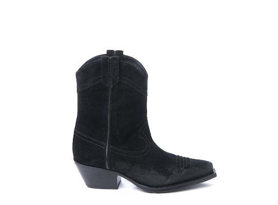 Suede cowboy boot