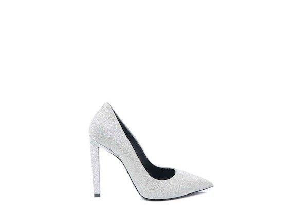 Glitter court shoe