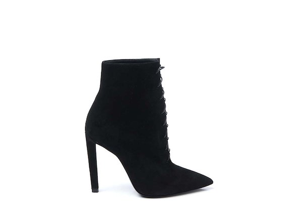 Lace-up ankle boot with stiletto heel