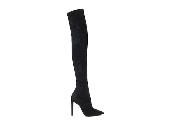 Thigh-high boot with stiletto heel