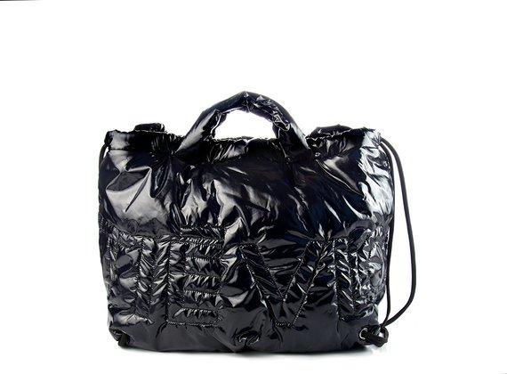 Penelope<br />Black padded nylon bag/backpack