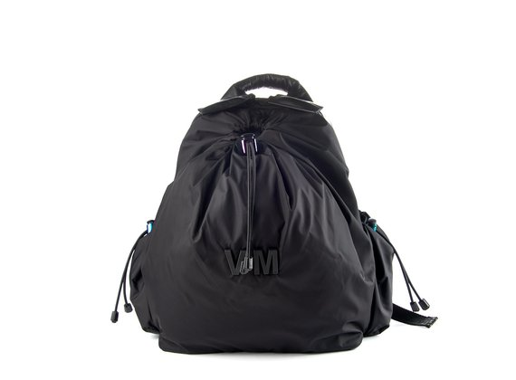 Dorotea<br />Padded black nylon backpack