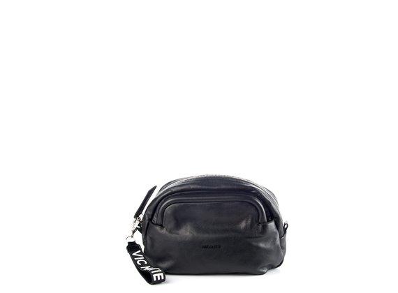 Vittoria<br />Black leather pouch bag