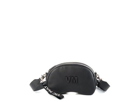 Babs Big L<br />Black leather shoulder bag