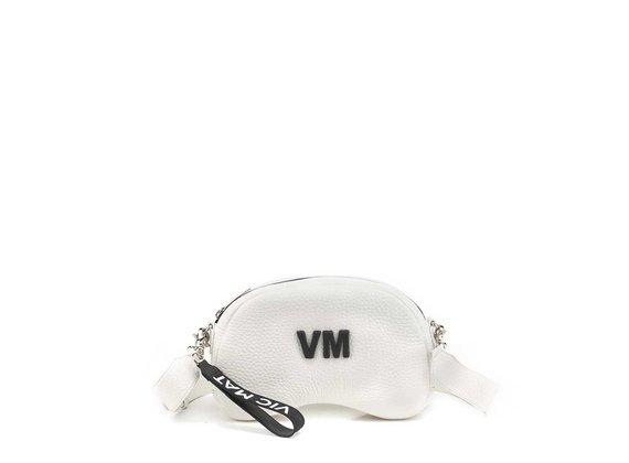 Babs Big L<br />White leather shoulder bag