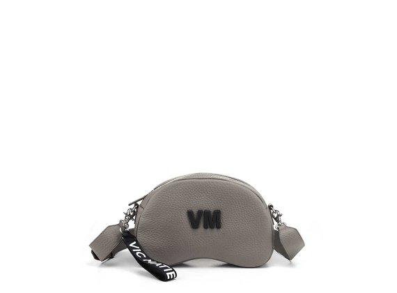 Babs Big L<br />Dove-grey leather shoulder bag