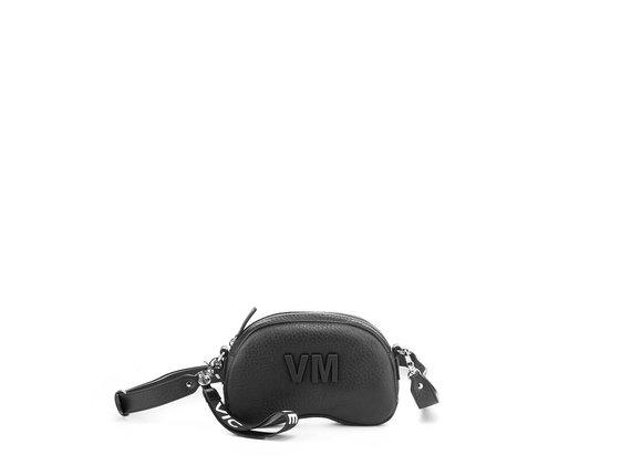 Babs Small L<br />Black leather shoulder bag
