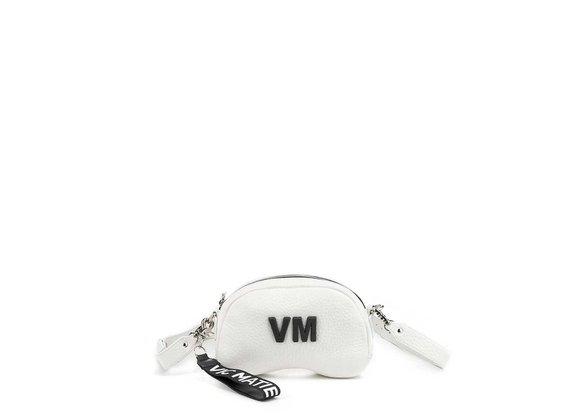 Babs Small L<br />White leather shoulder bag