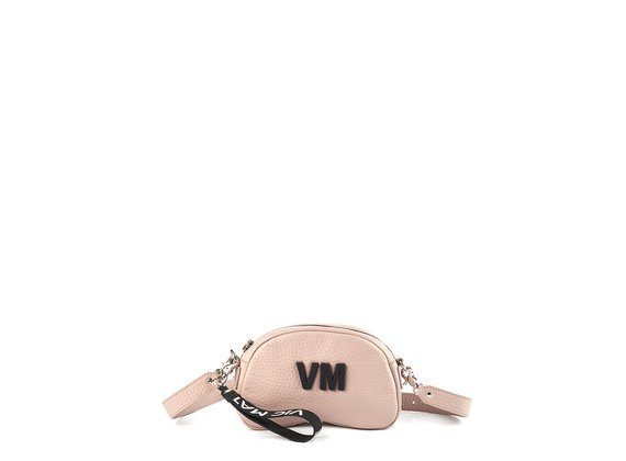 Babs Small L<br />Powder-pink leather shoulder bag