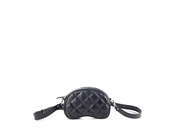 Babs Small T<br />Quilted black leather shoulder bag