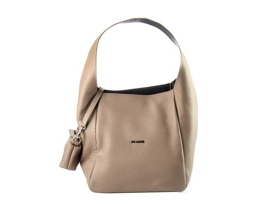 Lilibeth Big<br />Black leather bucket bag