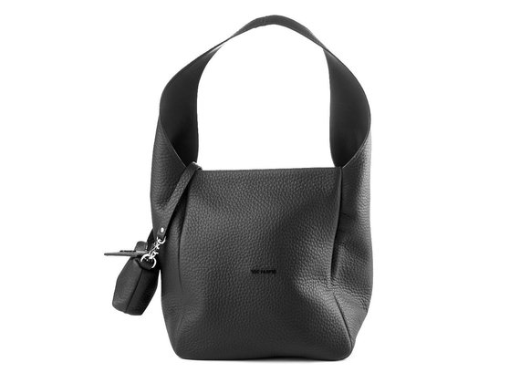 Lilibeth Big<br />Dove-grey leather bucket bag