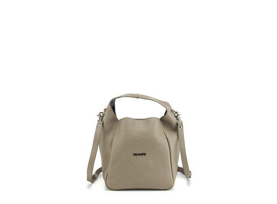 Lilibeth Small<br />Small dove-grey leather bucket bag