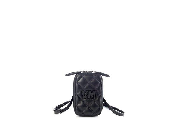 Elide<br />Small black leather bag