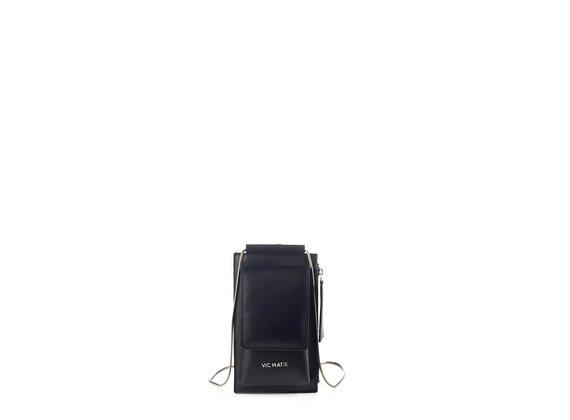 Alla<br />Black leather phone case
