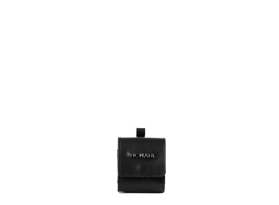 Clea<br /> Porta auricolari in pelle nera