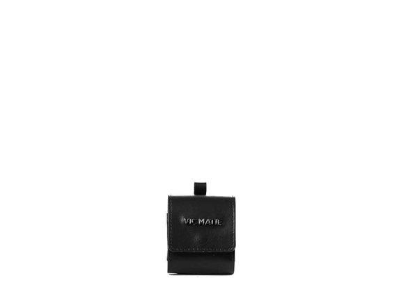 Clea<br /> Black leather earphone case