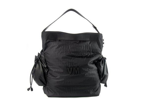 Medea<br />Black technical fabric shopper bag