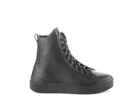 sneakers Uomo polacco in pelle nera