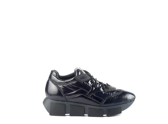 sneakers Run in nylon lucido nero
