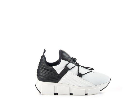 sneakers Run neoprene bianca/nera