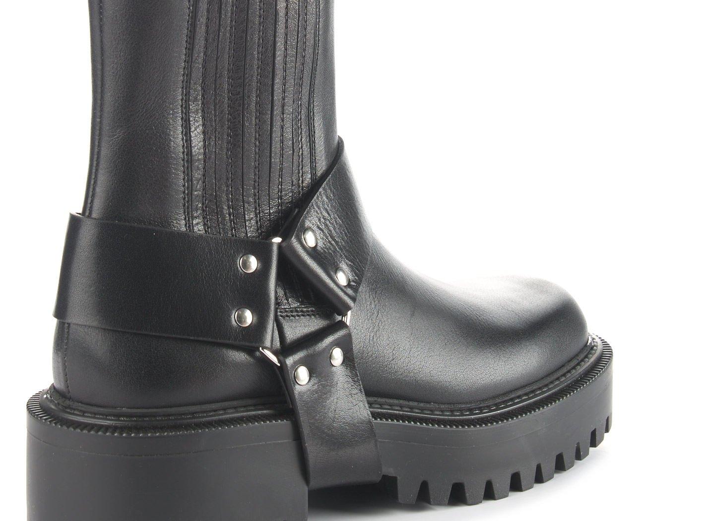Cowboy Beatle boots in black calfskin - Noir
