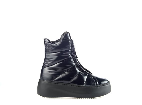 sneakers platform polacco nylon nero